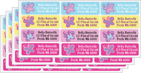 bella butterfly address message labels shop 4 kids presents