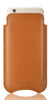 Tan Real Leather Built-in Screen Cleaning Technology iPhone 7 Plus sleeve case.