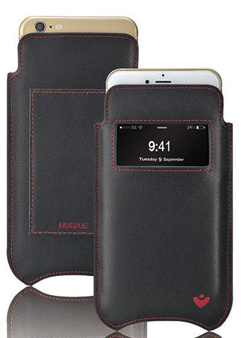 NueVue iPhone 11 Pro Max | iPhone Xs Max Wallet Case Napa Leather | Sanitizing Screen Cleaning Case