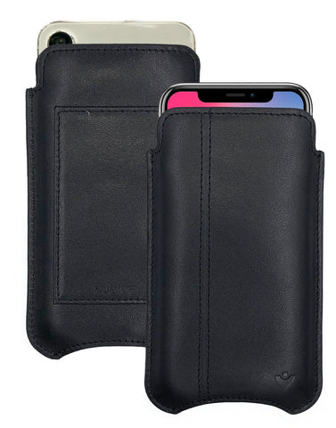 NueVue iPhone X Leather Black Phone Wallet Case