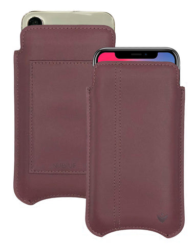 NueVue iPhone X Leather Brown Phone Wallet Case
