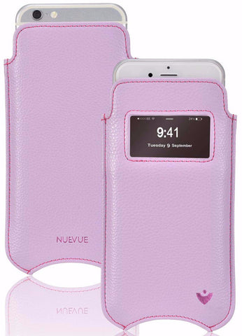 NueVue vegan leather case for iphone 6 sugar purple dual
