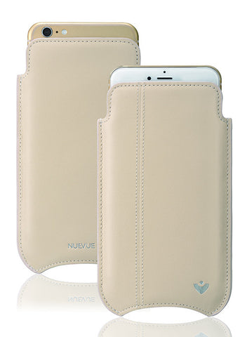Apple iPhone 6/6s sleeve case White Leather Screen Cleaning with protective antimicrobial lining