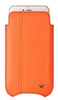 NueVue iPhone 6 Plus Orange Pouch cleaning case no window front