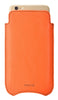NueVue iPhone 6 Plus Orange Pouch cleaning case no wallet rear