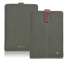 iPad Sleeve Case in Green Cotton Twill | Screen Cleaning Protective Sanitizing Interior.