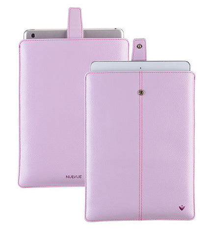 NueVue iPad case purple vegan leather self cleaning interior