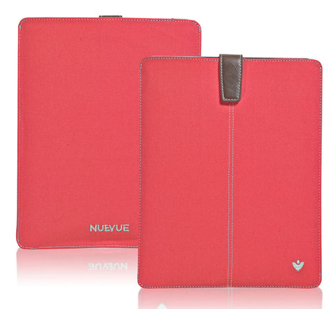 NueVue iPad case pink canvas self cleaning interior