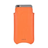 NueVue Vegan Leather Case Flame Orange rear no wallet