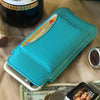 NueVue iPhone 6 Plus Case Blue Vegan leather self cleaning case lifestyle 5