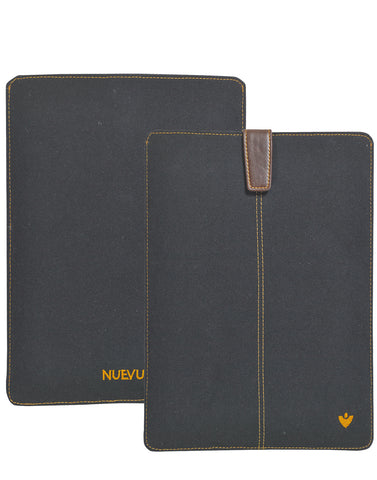 Samsung Galaxy Tab S2 Sleeve Case in Black Cotton Twill