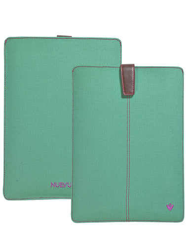 Samsung Galaxy Tab S3 Sleeve Case in Aqua Green Canvas