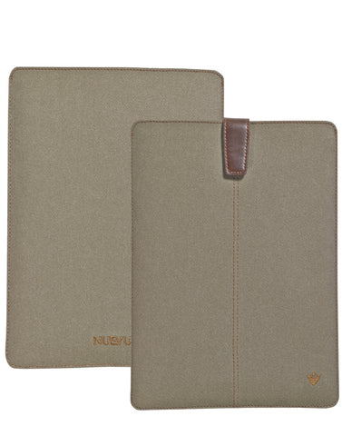 Samsung Galaxy Tab S3 Sleeve Case in Khaki Cotton Twill
