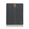 Apple iPad sleeve case Black Cotton Twill 'Screen Cleaning' cover with bacteria killing lining