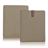 NueVue iPad case Khaki cotton twill self cleaning case