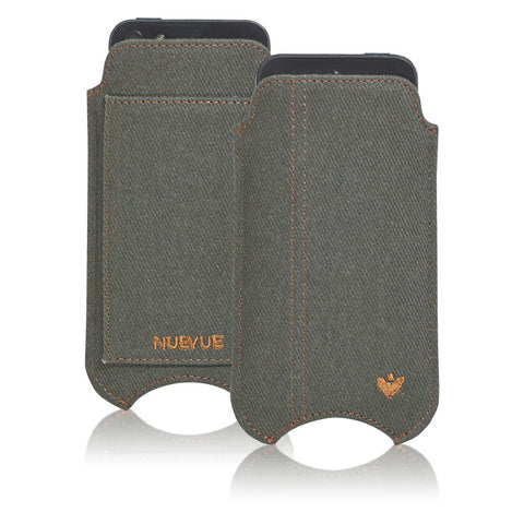 NueVue Luxury Green Cotton Twill Case dual