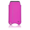 Apple iPhone SE, 5 sleeve case Pink Napa Leather Screen Cleaning  cover with bacteria killing lining