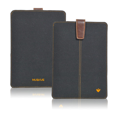 NueVue iPad mini sleeve case in Black Cotton Twill