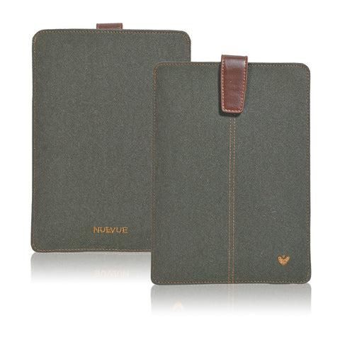 NueVue iPad mini green cotton twill dual