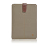 Apple iPad mini sleeve Khaki Cotton Twill Screen Cleaning case | protective bacteria killing lining