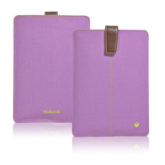 iPad mini Sleeve Case in Purple Canvas | Screen Cleaning Sanitizing Lining.