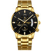 NIBOSI Gold Quartz Watch