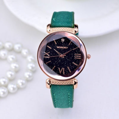 New Fashion Gogoey Brand Rose Gold Leather Watches Women ladies casual dress quartz