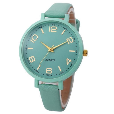 Casual Checkers Faux Leather Quartz Analog Wrist Watch Luxury Ladies