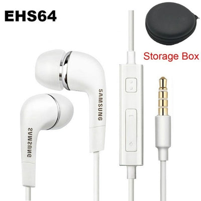 Samsung Earphone EO-IG955 Wired Headsets 1.2m with Mic 3.5mm In-Ear Stereo Sport Headset for Smartphone/PC/Laptop Galaxy S8 S9