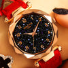 Star Sky Dial Clock Luxury Rose Gold Women's Watch