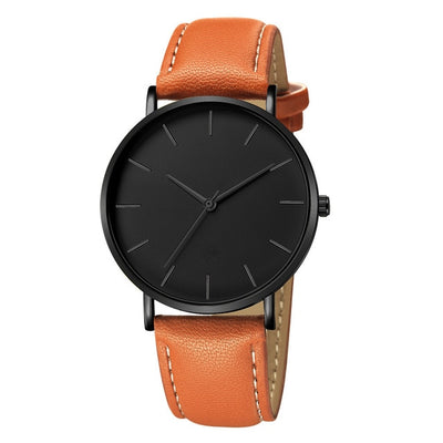 Geneva Fashion Men Date Alloy Case Synthetic Leather Analog Quartz Sport Watch