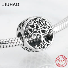 bafb5a3b9 Round shape 925 Sterling Silver family is where love grows DIY fine be -  delicassa