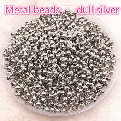 Jewelry Findings Diy 3mm 4mm Gold/Silver/Bronze/Silver Tone Metal Beads Smooth Ball Spacer Beads For Jewelry Making