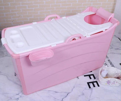 1Set  Folding Portable Bathtub for Adults Inflatable Bath Enjoy life Bathtub with lid