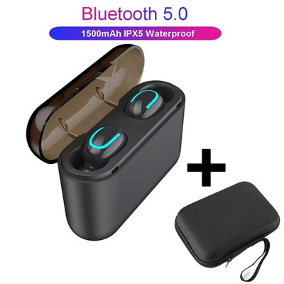 Ture Wireless Earphones HBQ Q32 Bluetooth 5.0 Headset With Mic Mini Bluetooth Earbud In-Ear Cordless Earphone PK i10 TWS Headset