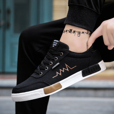 New Mens Shoes Spring Summer Canvas Shoes Men Sneakers Low Top Black Shoes Men's Casual Shoes Male Brand Fashion Sneakers
