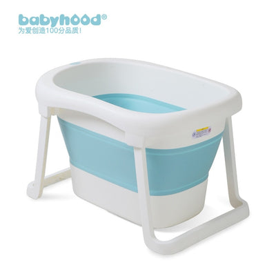 Large Size Folding Child Kids Bath Tub Thicken Solid Purple/Blue Baby Bathtub Baby Girls&Boy Bath Barrels