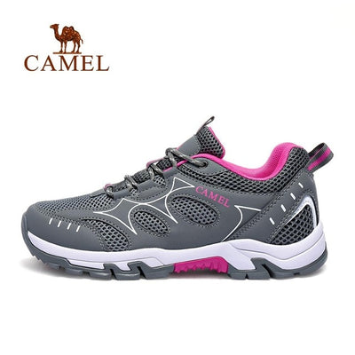 CAMEL Men Women Outdoor Mesh Hiking Shoes Non-slip Breathable Durable Outdoor Hiking Trekking Trail Breathable Climbing Shoes
