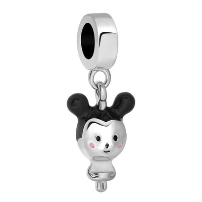 1pc european silver mickey minnie diy bead fit Original Pandora charms silver  Bracelet trinket jewelry for women S006