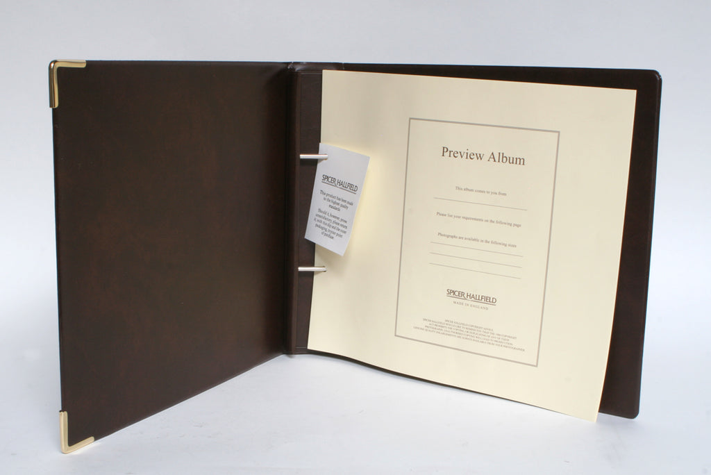 Spicer Hallfield Preview Album Cover Set Brown