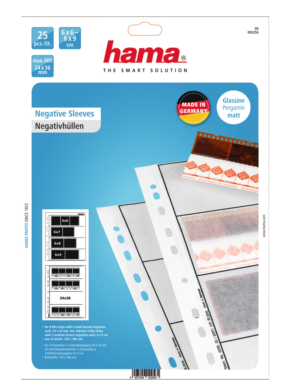 Hama Paper Negative Sleeves