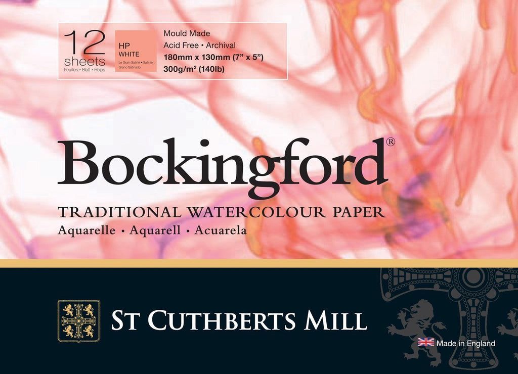 Bockingford Watercolour 300gsm Glued Pad 12 sheets - Hot Press