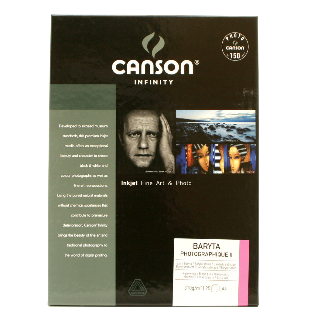 Canson Baryta Photographique II 310gsm 25 Sheets New Formulation