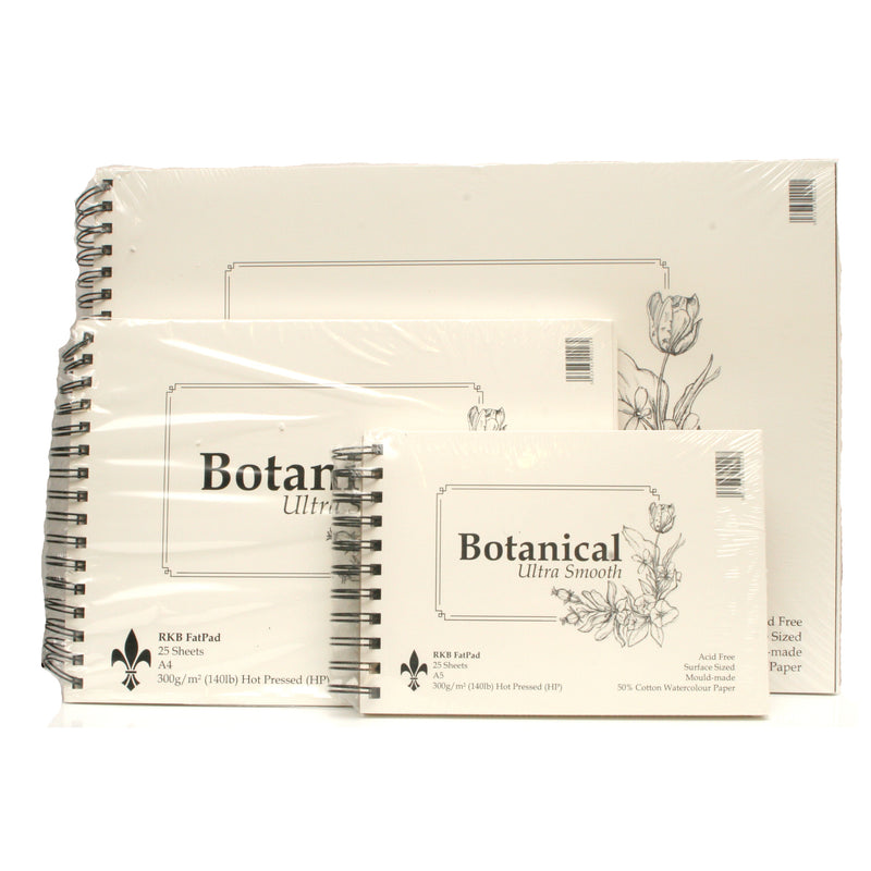RKB Fat Pad Botanical Ultra Smooth Fat Pad 300gsm 25 Sheets