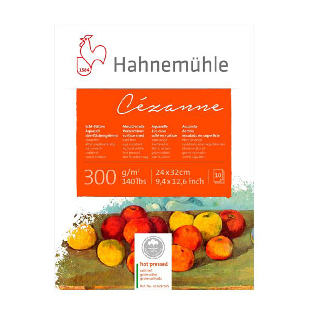 Hahnemühle Cézanne Hot Press Water Colour 300gsm 24 x 32 10 Sheets