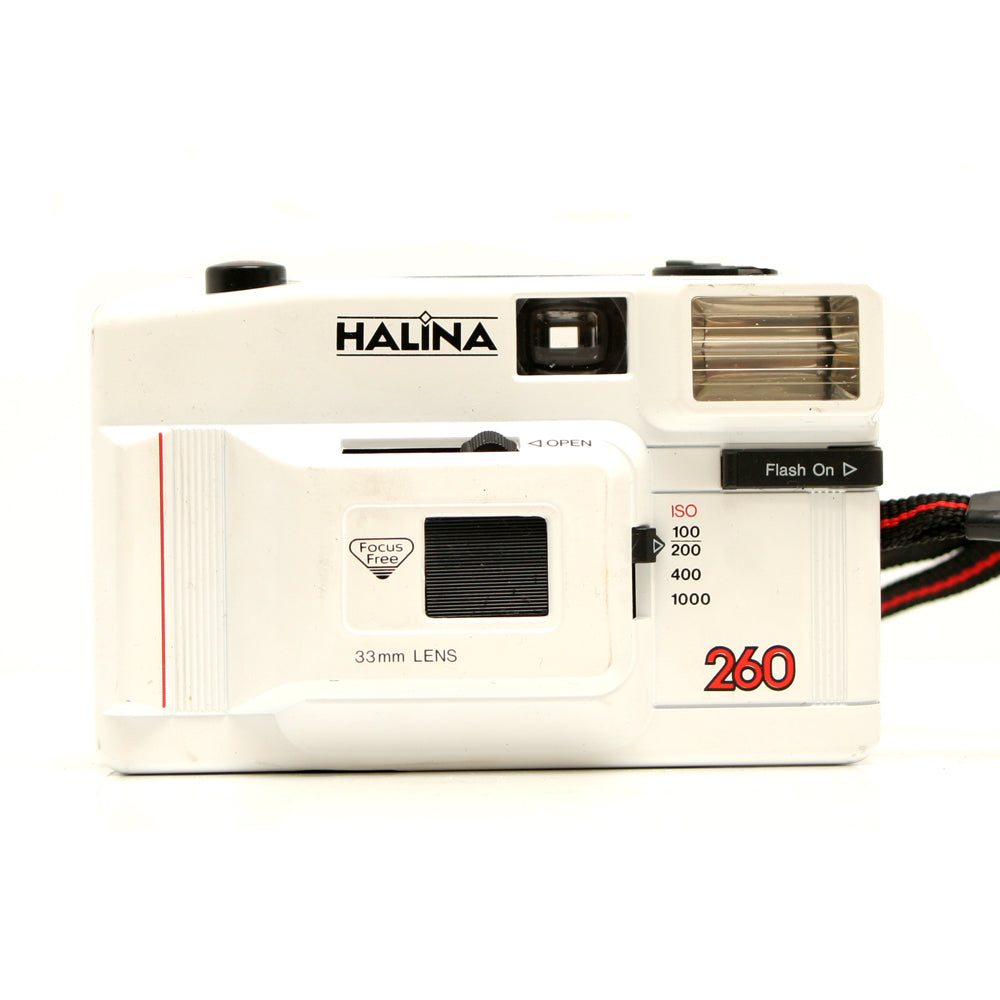 Halina 260 35mm Compact Camera- in box: tatty and damaged (the box)
