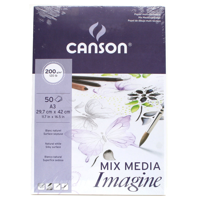 Canson Imagine 200gsm Mixed Media 50 Sheets