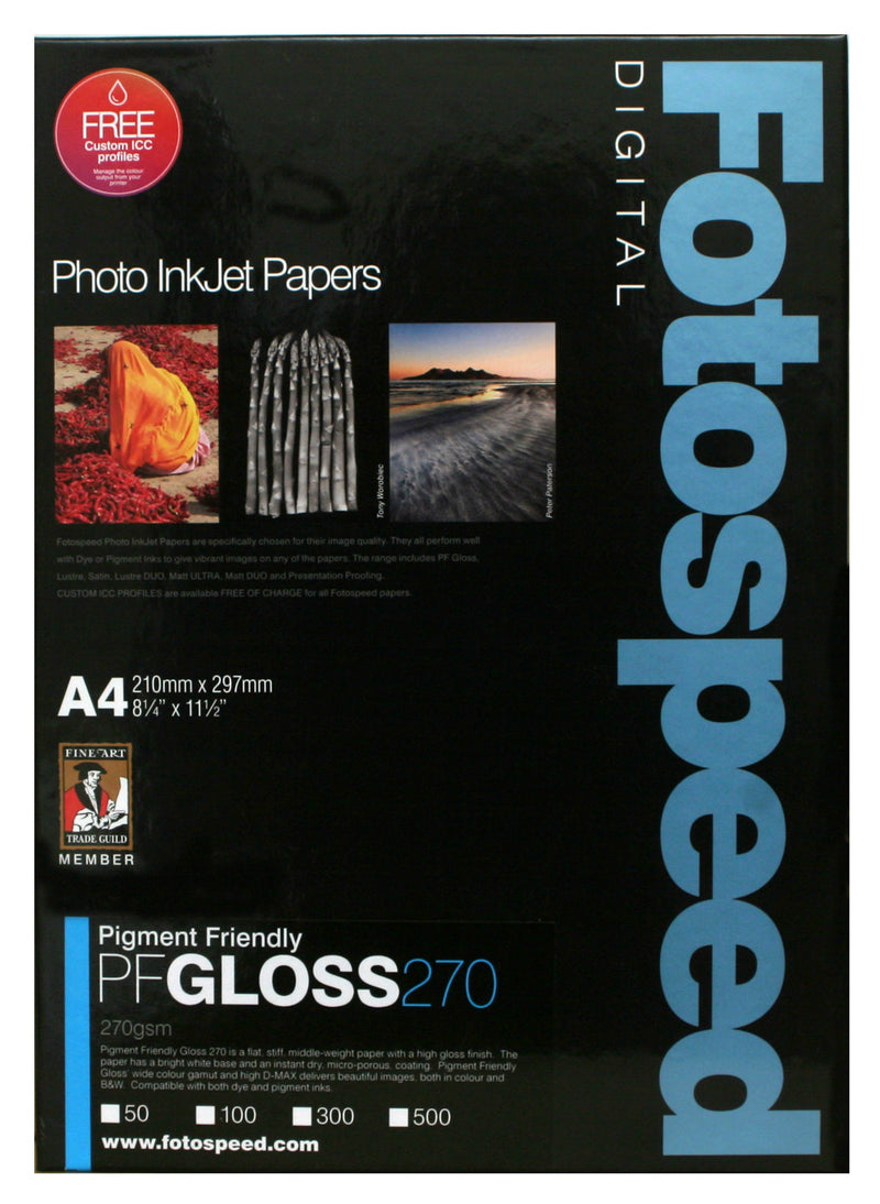 Fotospeed Pigment Friendly Gloss 270gsm