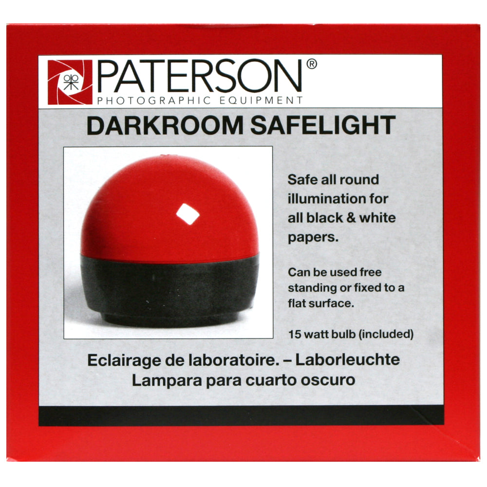 "Paterson Darkroom Safelight with Dome ""A"""