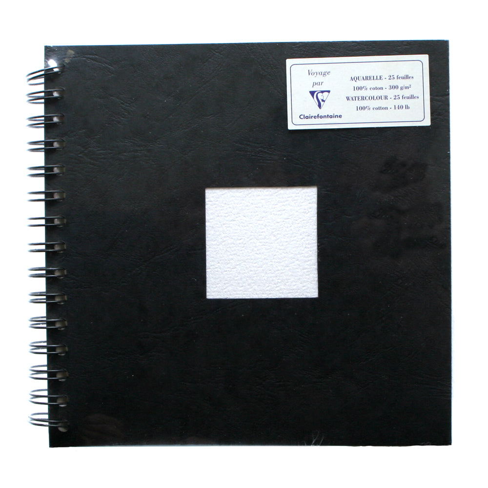 Clairefontaine 20x20cm Voyage 300gsm Watercolour Book, 25 sheets